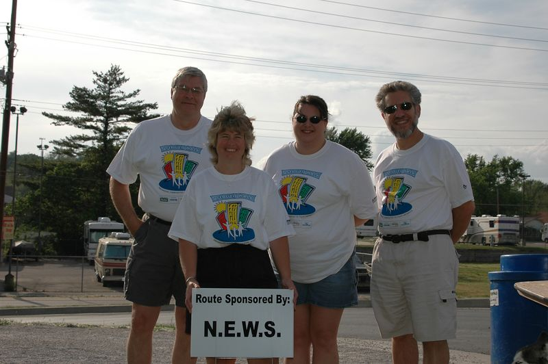 St. Peters Chamber of Commerce, N.E.W.S. Leadshare Group members Larry Unser, Barb Krug, Sabrina Wicker and Art Zemon