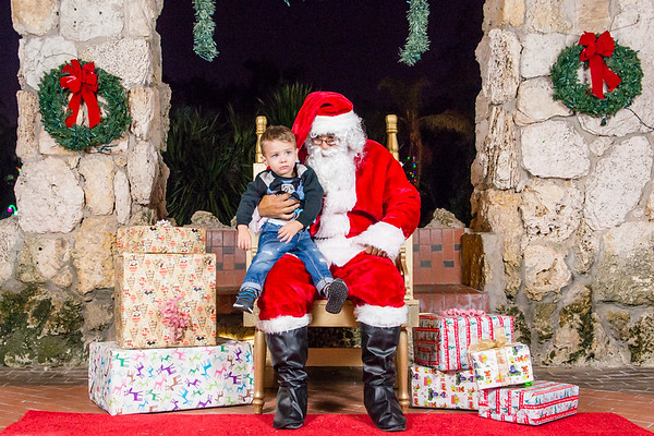 Night of Lights & Leashes Santa Photos