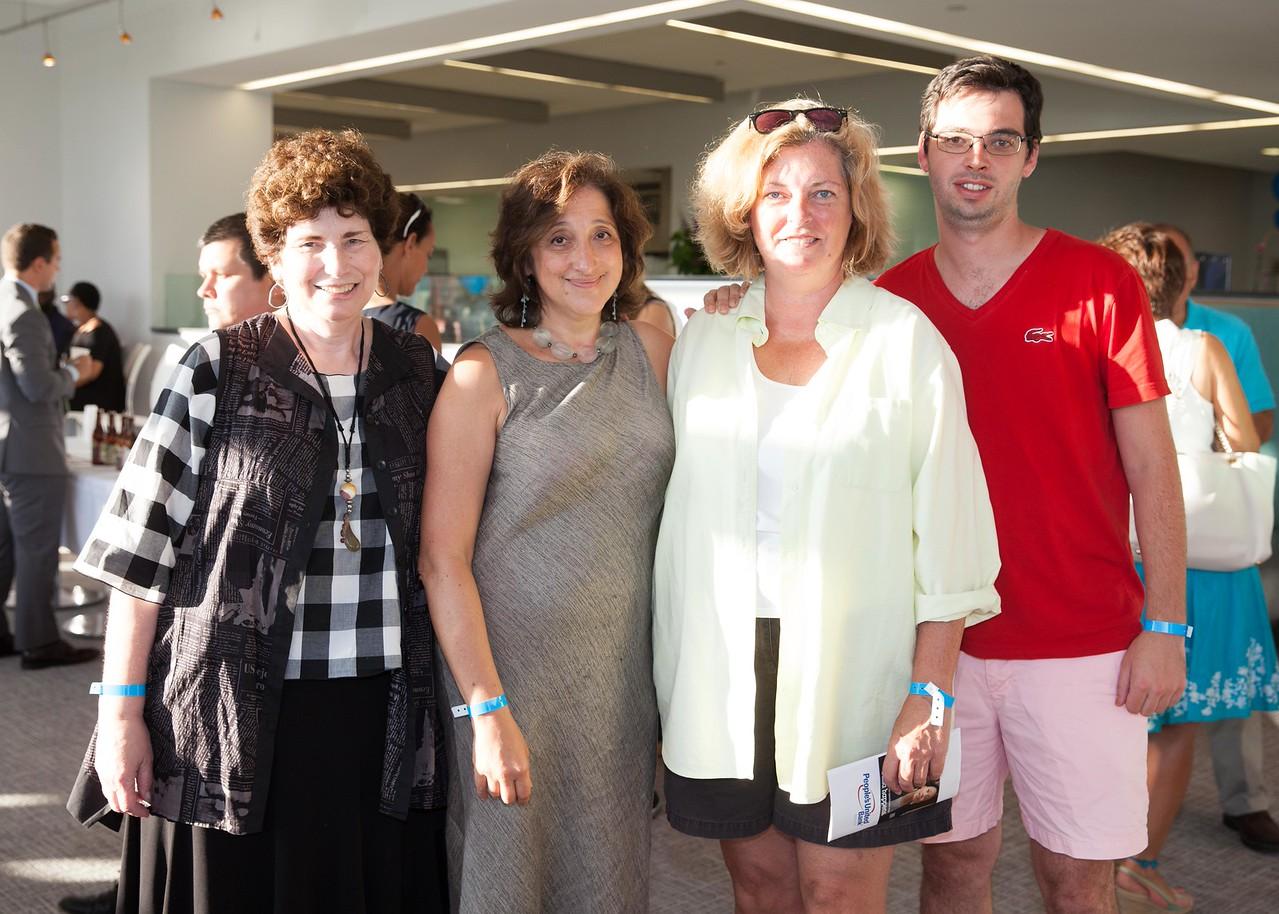 IMG_0974 Susan Hoffman Fishman and Elena Kalman with Jill and Brad Symth
