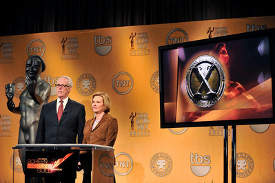 Nominations were held at the Pacific Design Center for the 18th Annual Screen Actors Guild Awards. Judy Greer from the Descendants and Regina King from TNT's Southland and the 18th Annual Screen Actors Guilds Awards Ambassador announced the nominees for this years actors, films, and Television Shows. Beth Williams and Daryl Anderson Valerie Goodloe