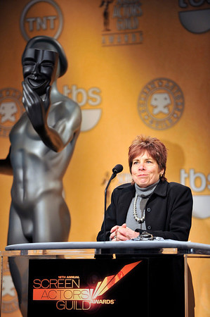 Nominations were held at the Pacific Design Center for the 18th Annual Screen Actors Guild Awards. Judy Greer from the Descendants and Regina King from TNT's Southland and the 18th Annual Screen Actors Guilds Awards Ambassador announced the nominees for this years actors, films, and Television Shows. Rosalind Jarrett Valerie Goodloe