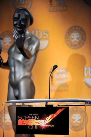 Nominations were held at the Pacific Design Center for the 18th Annual Screen Actors Guild Awards. Judy Greer from the Descendants and Regina King from TNT's Southland and the 18th Annual Screen Actors Guilds Awards Ambassador announced the nominees for this years actors, films, and Television Shows. Valerie Goodloe