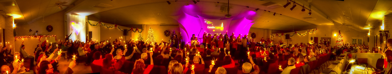 2010 Xmas Eve Candle Light Ceremony at New Vision Center for Spiritual Living, Phoenix, Arizona.