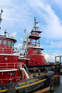Great North River Tugboat Race & Competition on the Hudson River. NY