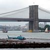 The 'Halve Maan' and 'Onrust' underneath the Brooklyn Bridge.