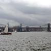 Skûtsje near the Brooklyn Bridge.