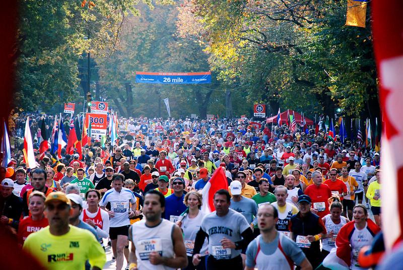 300 yards to go, NYC Marathon