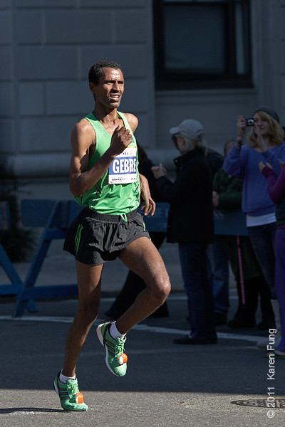 2011:  Gebre Gebremariam, the defending male champion, came in 4th this year.