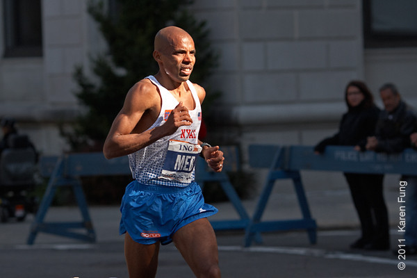 2011: USA's Meb Keflezighi, the 2009 champion, placed 6th this year.