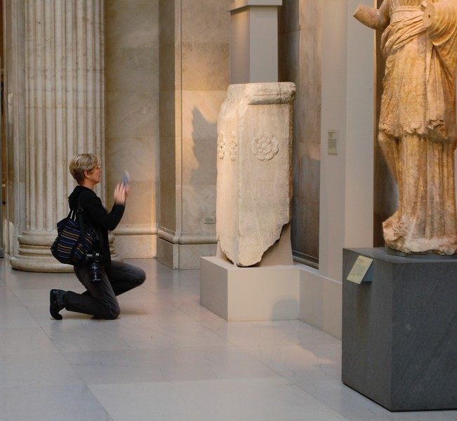 Maria worships at the alter of The Met