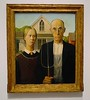 Grant Wood exhibit. Brilliant