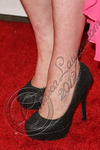WEST HOLLYWOOD, CA - OCTOBER 15:  Actress Kat McNamara (shoe detail) arrives at Nylon's October IT Issue and launch of the Hello Kitty and Forever 21 collaboration at The London West Hollywood on October 15, 2012 in West Hollywood, California.  (Photo by Chelsea Lauren/WireImage)