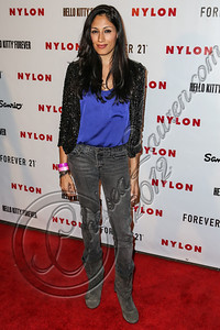 WEST HOLLYWOOD, CA - OCTOBER 15:  Actress Tehmina Sunny arrives at Nylon's October IT Issue and launch of the Hello Kitty and Forever 21 collaboration at The London West Hollywood on October 15, 2012 in West Hollywood, California.  (Photo by Chelsea Lauren/WireImage)