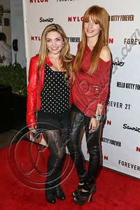 WEST HOLLYWOOD, CA - OCTOBER 15:  Actresses Kailey Nicole Swanson (L) and Bella Thorne arrive at Nylon's October IT Issue and launch of the Hello Kitty and Forever 21 collaboration at The London West Hollywood on October 15, 2012 in West Hollywood, California.  (Photo by Chelsea Lauren/WireImage)
