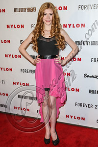 WEST HOLLYWOOD, CA - OCTOBER 15:  Actress Kat McNamara arrives at Nylon's October IT Issue and launch of the Hello Kitty and Forever 21 collaboration at The London West Hollywood on October 15, 2012 in West Hollywood, California.  (Photo by Chelsea Lauren/WireImage)