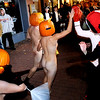 N1101NAKED2.JPG<br /> <br /> Hundreds of people shed their clothes, put a pumpkin on their heads and ran through downtown Boulder for the 9th annual Naked Pumpkin Run in Boulder, Colorado October 31, 2007. CAMERA/Mark Leffingwell