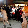 N1101NAKED5.JPG<br /> <br /> Hundreds of people shed their clothes, put a pumpkin on their heads and ran through downtown Boulder for the 9th annual Naked Pumpkin Run in Boulder, Colorado October 31, 2007. CAMERA/Mark Leffingwell