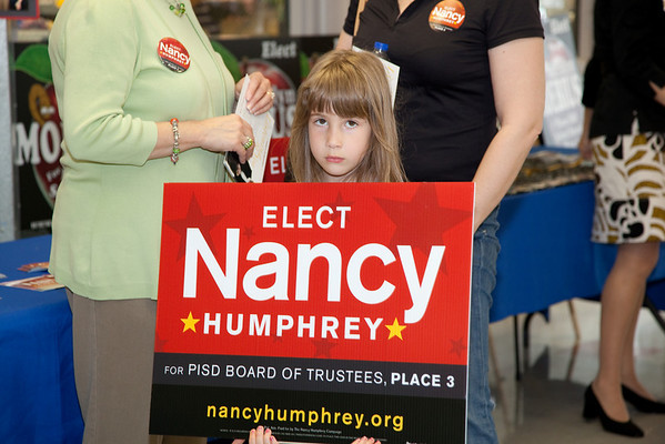 Nancy Humphrey PISD Schoolboard PSA event