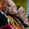 "Rabbi Zalman Schachter-Shalomi, right, listens the the poetry of Anne Waldman during the ceremony.<br /> Naropa University celebrated the presidential inauguration of Charles G. Lief on Saturday at the Nalanda Campus.<br /> For  more photos and a  video of the ceremony,  go to  <a href=""http://www.dailycamera.com"">http://www.dailycamera.com</a>.<br />  Cliff Grassmick  / February 16, 2013"