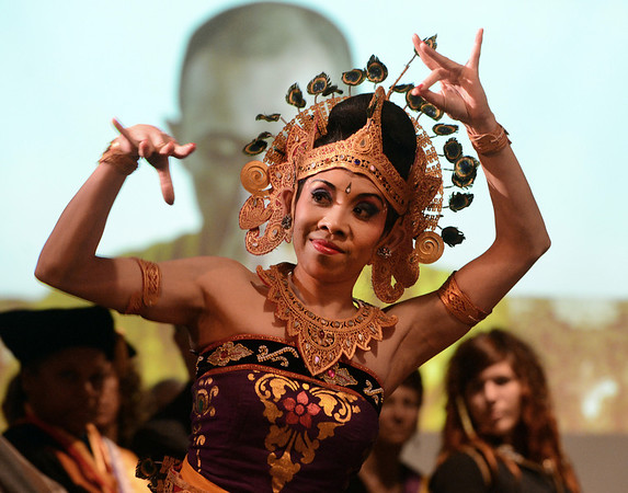 "Nikitut Marni dances a traditional Balinese dance with the group Gamelan Tunas Mekar  during the ceremony.<br /> Naropa University celebrated the presidential inauguration of Charles G. Lief on Saturday at the Nalanda Campus.<br /> For  more photos and a  video of the ceremony,  go to  <a href=""http://www.dailycamera.com"">http://www.dailycamera.com</a>.<br />  Cliff Grassmick  / February 16, 2013"