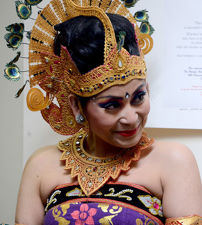 "Dyah Widyati waits to perform a traditional Balinese dance with the group Gamelan Tunas Mekar  during the ceremony.<br /> Naropa University celebrated the presidential inauguration of Charles G. Lief on Saturday at the Nalanda Campus.<br /> For  more photos and a  video of the ceremony,  go to  <a href=""http://www.dailycamera.com"">http://www.dailycamera.com</a>.<br />  Cliff Grassmick  / February 16, 2013"