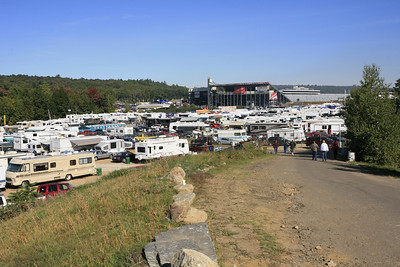 Camping area immediately south of the racetrack