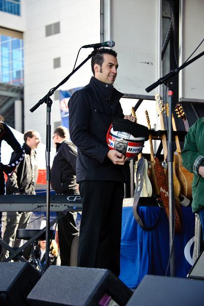 Indy 500 winner and current NASCAR driver of the 77 Mobil 1 Dodge, Sam Hornish, Jr.
