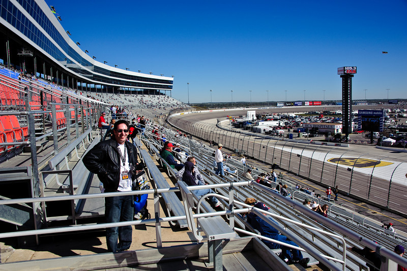 Greg from our seats looking back into Turn 4.