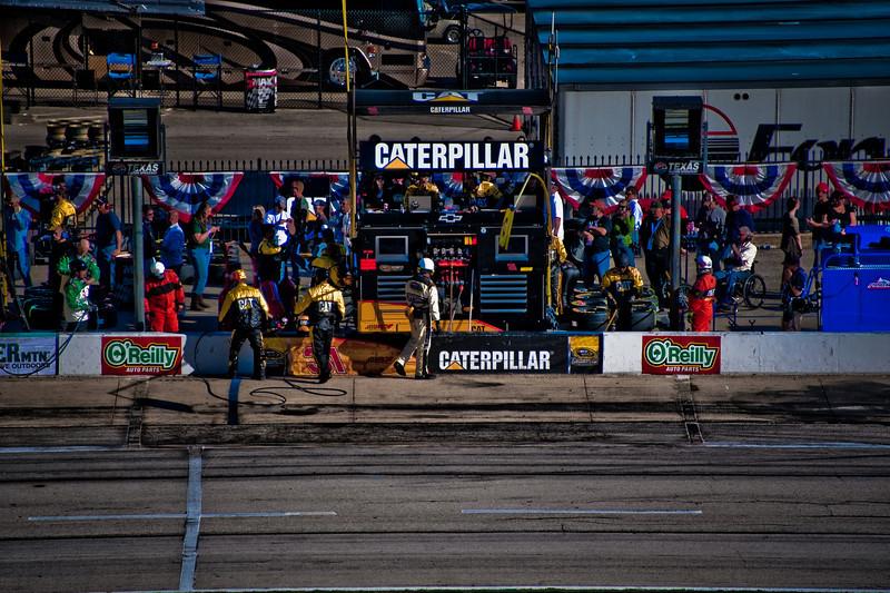 Jeff Burton's pit stall.
