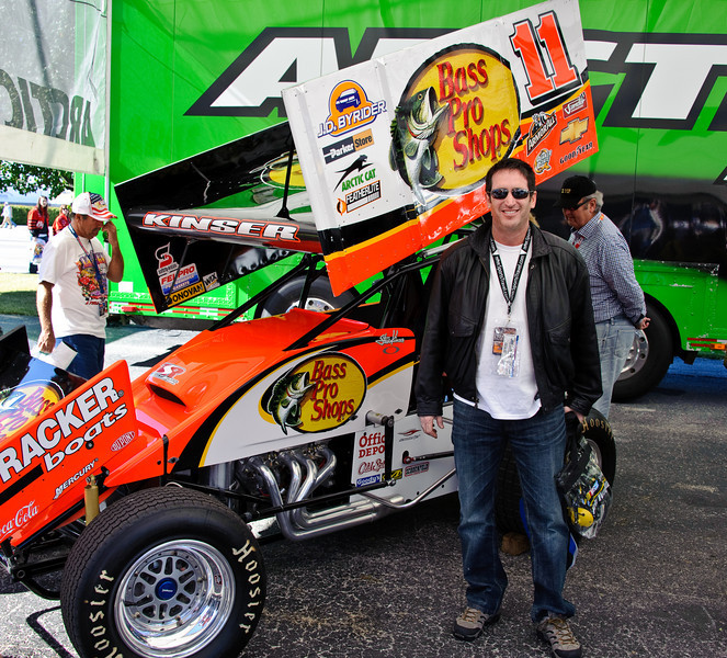 Greg with Sprint Car.