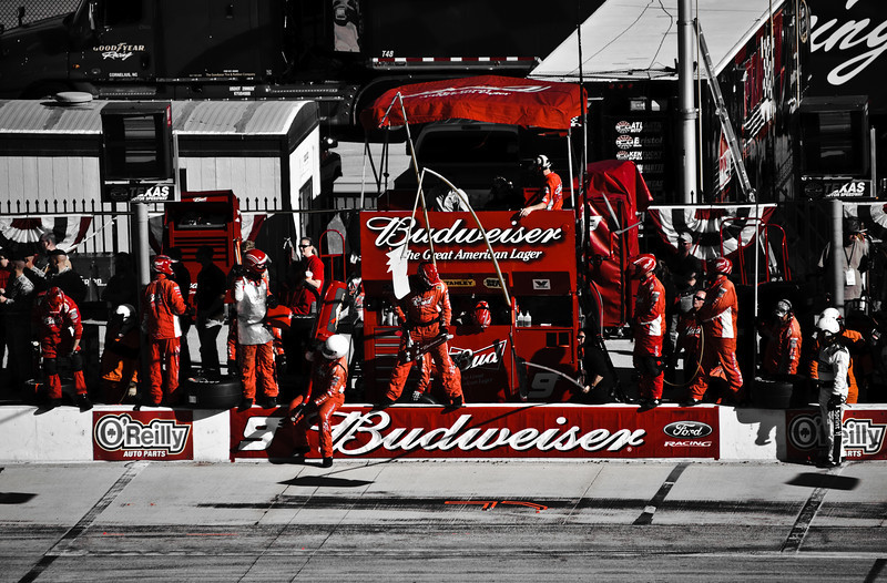 The failing Budweiser 9 team of Kasey Kahne, who went to Red Bull. The car was driven by Aric Almirola.