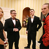 Nashoba Tech prom at Devens. From left, Ashley Grant of Westford, Charles Myers of Townsend, Jake Driscoll of Ayer and Ben Sheehan of Chelmsford. (SUN/Julia Malakie)