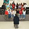 """From Ministik School in Moose Factory, Mrs. McLeod's Grade Four and Six Cree students sing """"This Land is Your Land"""" in Cree."""