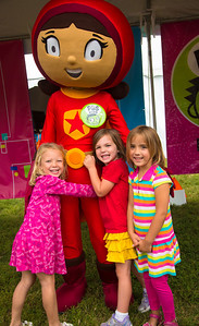 Ainsley-  5-1/2   Caroline 5    Julia  5    from Washington DC PBS Kids character WORD GIRL from Word World