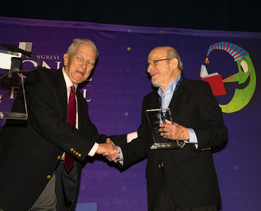 Among the pantheon of great writers is E.L. Doctorow, who is this year's recipient of the Library of Congress Prize for American Fiction.   James Hadley Billington  the Librarian of Congress (left)
