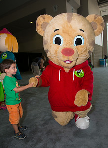 Joshua (age 3-1/2 yrs from DC) with Daniel Tiger of PBS Kids Daniel Tiger's Neighborhood
