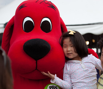 Clifford the Big Red Dog and friend