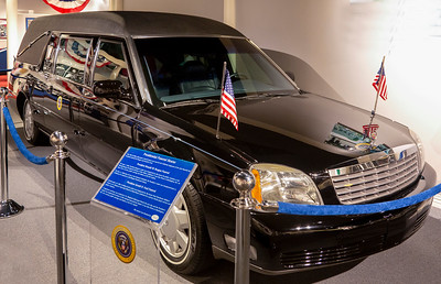 Hearse ridden by Presidents Ford and Reagan