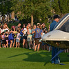 People line up to look at the Air Life helicopter during the National Night Out Picnic in the Park at Broomfield County Commons Park on Tuesday.<br /> <br /> August 7, 2012<br /> staff photo/ David R. Jennings