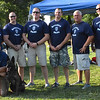 Diane Raver | The Herald-Tribune<br /> Batesville Police Department Officers Maj. Mike Benjamin, Patrolman Chris Smith, Patrolman Travis Cook, Patrolman Mike Manus, Patrolman/Detective Brad Wessel, Cpl. Dave Abel, Detective Sgt. Blake Roope, Chief Stan Holt; (front row) Sgt. Danny Hamilton and K-9 Jinx particpated in the annual event.