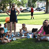 Diane Raver | The Herald-Tribune<br /> Attendees even found a nice spot on the ground to enjoy their meal.