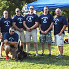 Diane Raver | The Herald-Tribune<br /> Ripley County Sheriff's Department Chief Deputy Kurt Enneking (back row from left) and Batesville Police Department Officers Maj. Mike Benjamin, Patrolman Chris Smith, Patrolman Travis Cook, Patrolman Mike Manus, Patrolman/Detective Brad Wessel, Cpl Dave Abel, Detective Sgt. Blake Roope, Chief Stan Holt; (front row) Sgt. Danny Hamilton and K-9 Jinx particpated in the annual event.