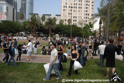 Pillow Fight 2010 - at Pershing Square in downtown - Los Angeles, CA - April 3, 2010