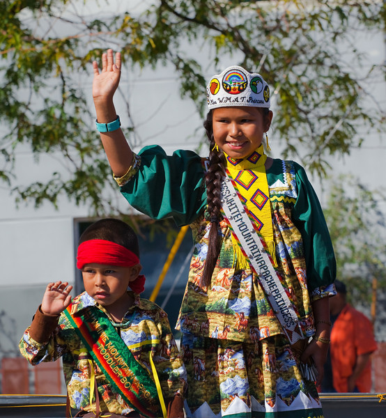 Ollie Max Rustin (left) is White Mountain Apache Toddler Boy of the Year.