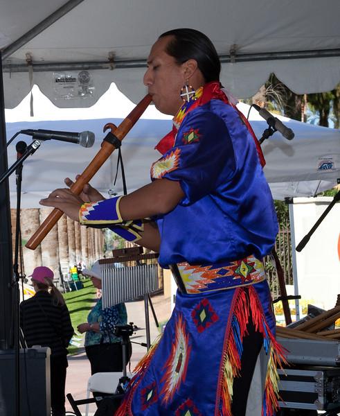 Tony Duncan on Native American flute.