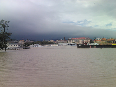 There's a lamp in Bratislava in the middle of Danube... at least sometimes