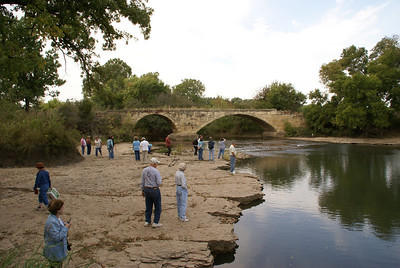 Group gathered at Andes stone bridge over Silver Creek