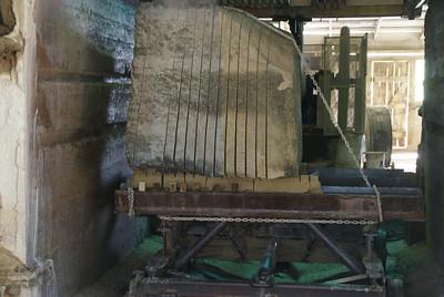 Born Limestone plant in Silverdale. Cutting limestone.