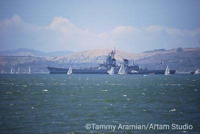 USS Iowa tow-out