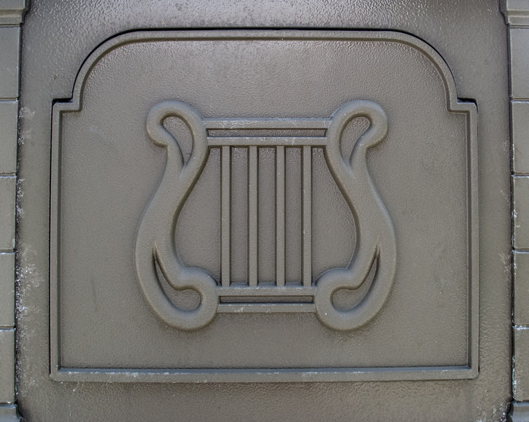 Back view of a mailbox